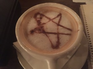 Special demonic coffee, my fav!